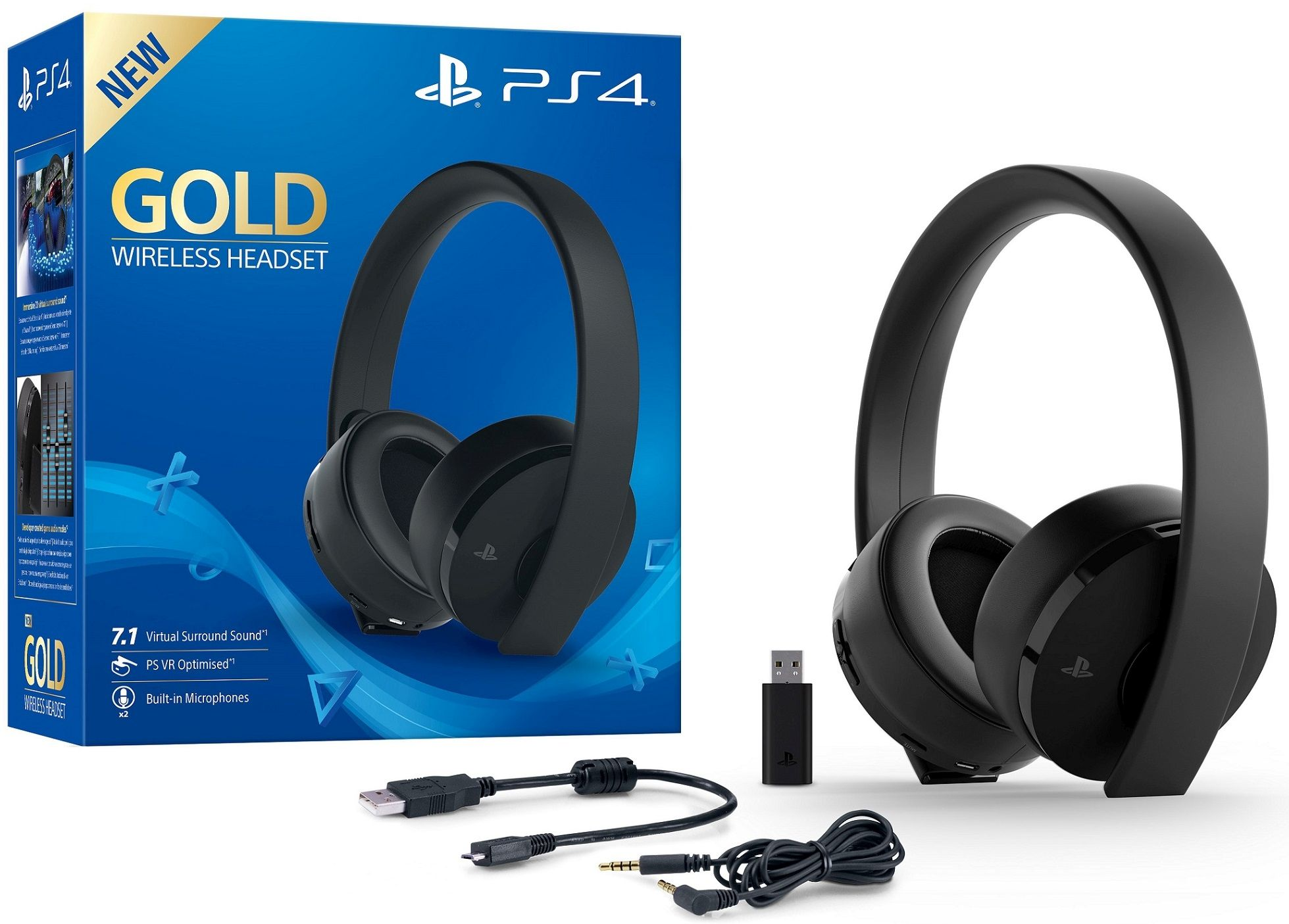 Sony Playstation Wireless Headset - Gold Edition [PS4] | postshop.ch