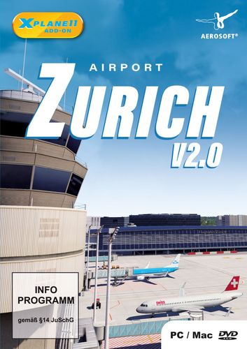 Airport Zürich für X-Plane 11 [Add-On] [DVD]