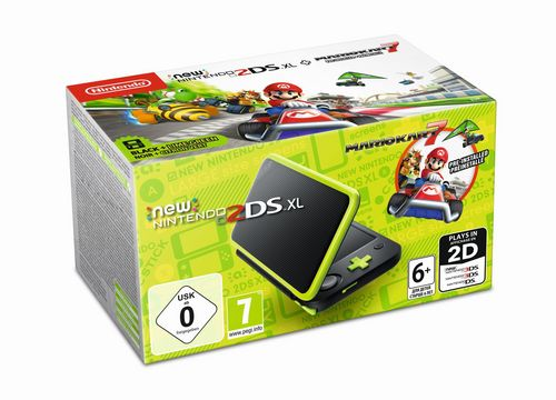 New 2DS XL Console - black/green + Mario Kart 7 [New 2DS XL]