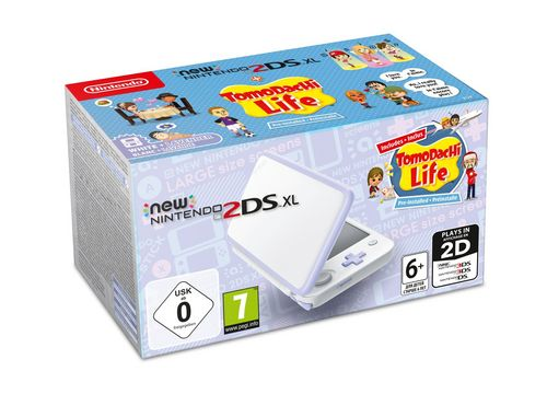 New 2DS XL Console - white/purple + Tomodachi Life [New 2DS XL]
