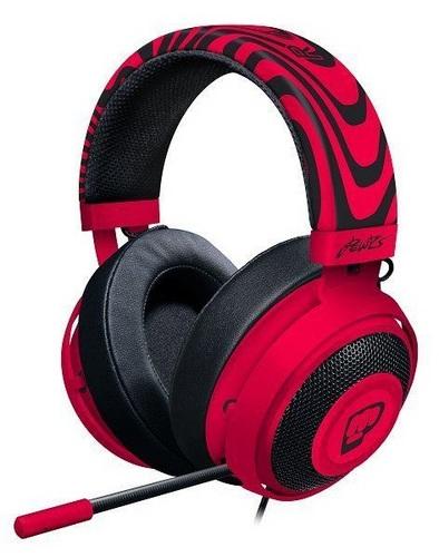 Razer Kraken Pro V2 Oval PewDiePie Headset - neon red
