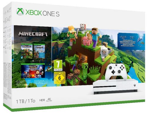 XBOX ONE S Console 1TB - Minecraft Bundle [XONE]