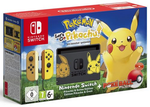 Nintendo Switch Console Pokémon + Let's Go, Pikachu! [NSW]