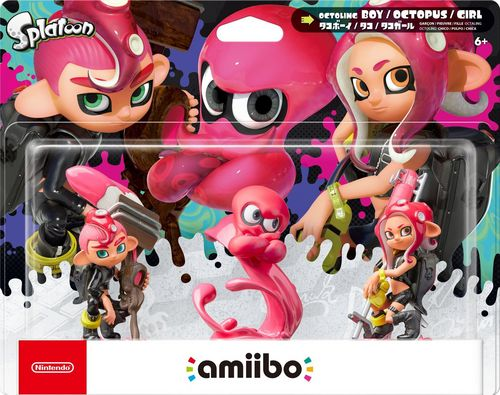 amiibo Splatoon Character Oktoling Girl, Boy & Octopus Set