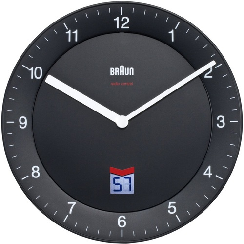 Radio Controlled Wall Clock BNC006 black