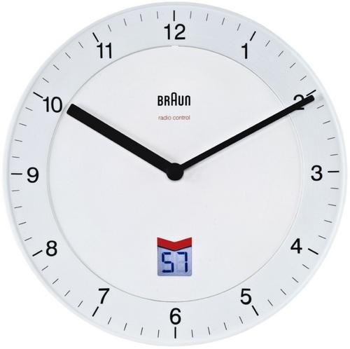 Radio Controlled Wall Clock BNC006 white