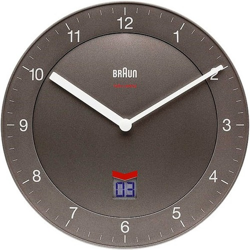 Radio Controlled Wall Clock BNC006 grey