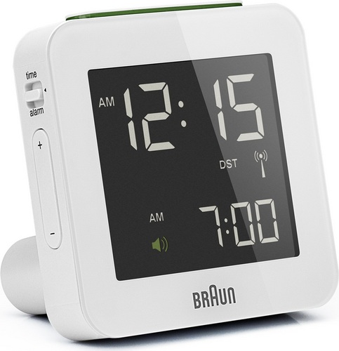Sveglia digitale con complessiva BNC009 bianco