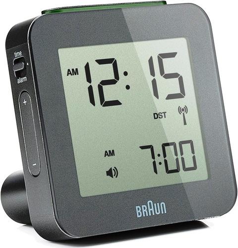 Global Radio Controlled Alarm Clock BNC009 grey