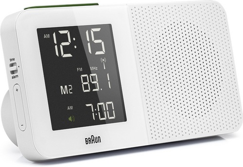 Global Radio Controlled Alarm Clock Radio BNC010 white