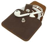 Earphone Case Vintage - dark brown