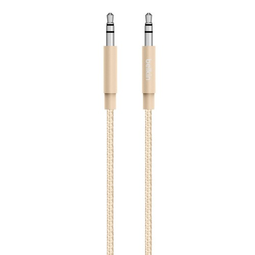 MIXIT Premium Audio Cable, 1.2m - gold