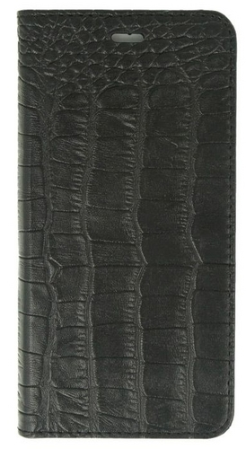 iPhone 7 Plus / Valenta Leather Booklet Classic Style Croco - black