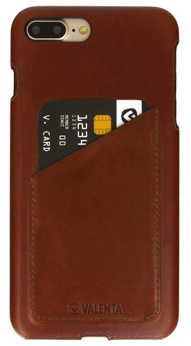 iPhone 7 Plus / Valenta Leather Backcover Classic Luxe - brown