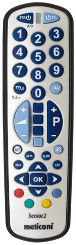 Universal Remote Control GumBody SENIOR 2 RC w/ large keys (2 in 1) - white/blue