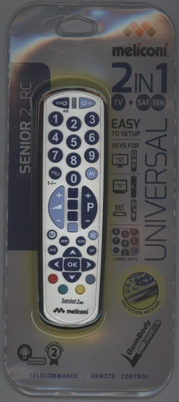 Universal Remote Control Gumbody Senior 2 Rc W Large Keys 2 In 1