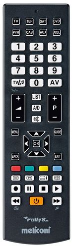 Universal Remote Control FULLY 8 RC (8 in 1) - black