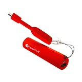 CasePower 2600mAh Portable Battery w/ ClickToGo microUSB Cable - pure-red