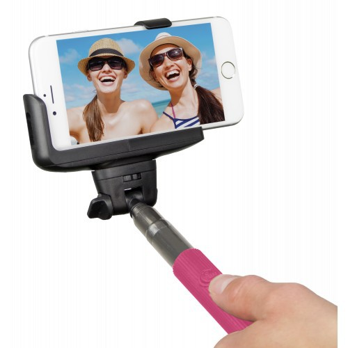 Kitvision Bluetooth Selfie Stick w/ Phone Holder - pink