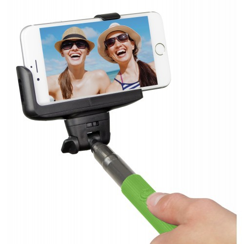 Kitvision Bluetooth Selfie Stick w/ Phone Holder - green
