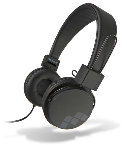 MySound: SpeakStreet Stereo Headphones w/ Microphone - black