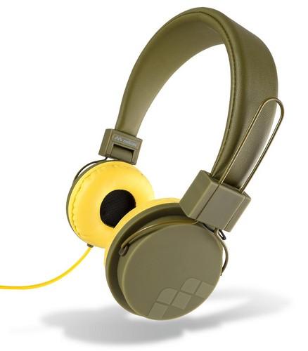 MySound: Speak Street Stereo Headphones w/ Microphone - military