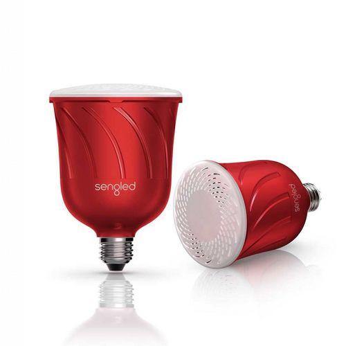 Pulse Master + Satellite (LED+JBL BT Speaker) [E27,600lm,2700K] - red