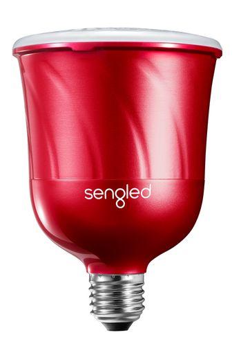 Pulse Satellite (LED+JBL BT Speaker) [E27,600lm,2700K] - red