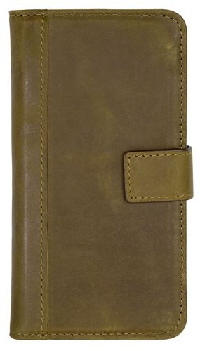 Scutes Booklet Case [Credit Card Slots] - Galaxy S7 edge - antic brown