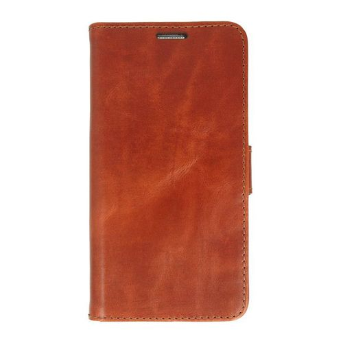 Galaxy S7 edge / Valenta Leather Booklet Classic Luxe - brown