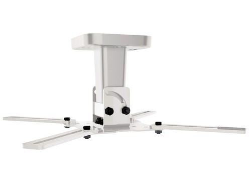 Pro 100 - Support plafond pour TV/vidéoprojecteur [15 kg] - blanc