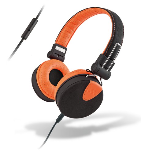 MySound: SpeakStyle Headphones w/ Microphone - black/orange