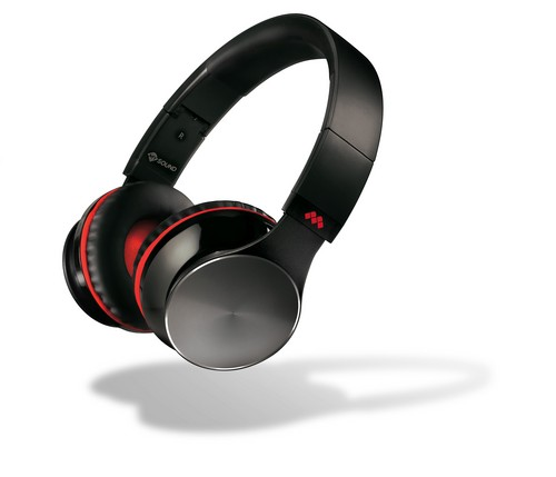 Speak Air - Wireless Bluetooth Headphones with MIC - black/red