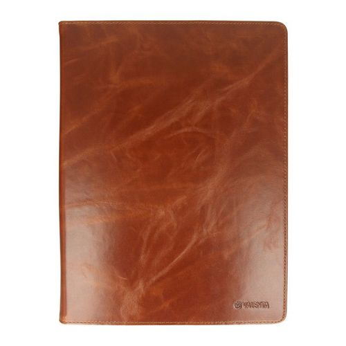 Valenta Universal Tablet Leather Booklet Classic [Large, 9.0-12.2in] - brown