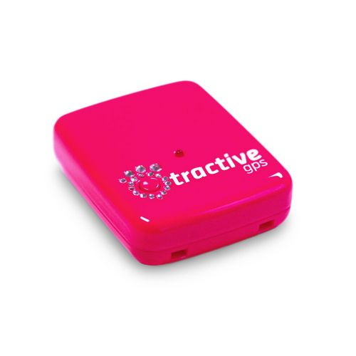 Tractive GPS Pet Tracker Special Pink Edition w/ Crystals from Swarovski