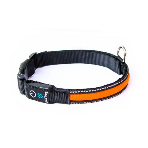Tractive LED Dog Collar [L] - orange