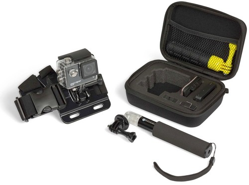 Kitvision StarterKit - Action Cam Small Travel Case, Extenion Pole & Chest Mount