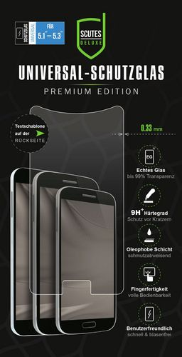 Universal Glass Screen Protector [for 5.1-5.3in] (0.33mm)