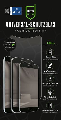 Universal Glass Screen Protector [for 5.3-5.5in] (0.33mm)