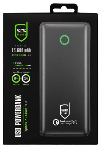 Scutes USB 3.0 Quick Charger 15600mAh - black