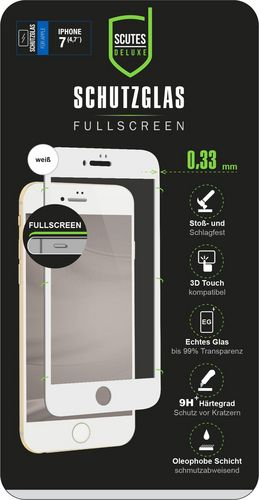 Scutes 3D Glass Screen Protector - iPhone 7 / 8 - white