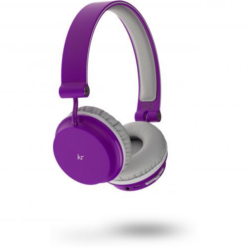 KitSound Metro Bluetooth Headphones - purple