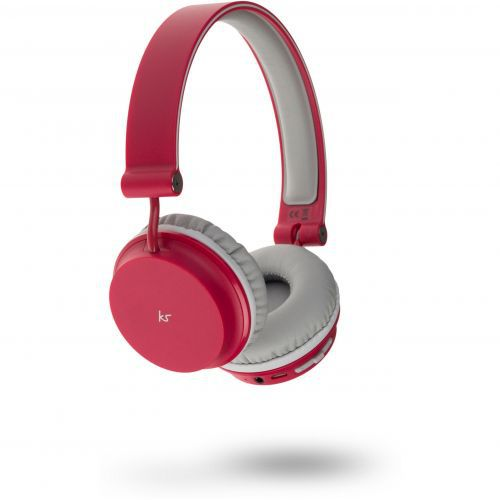 KitSound Metro Bluetooth Headphones - red