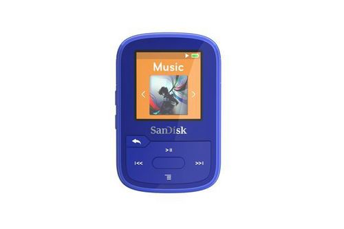 SanDisk Clip Sport Plus 16 GB [Spritzwassergeschützt] - blue
