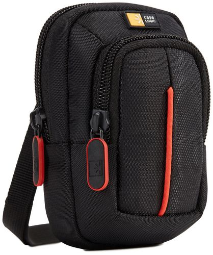Case Logic small Camera Case with Accessory Pocket - black/red