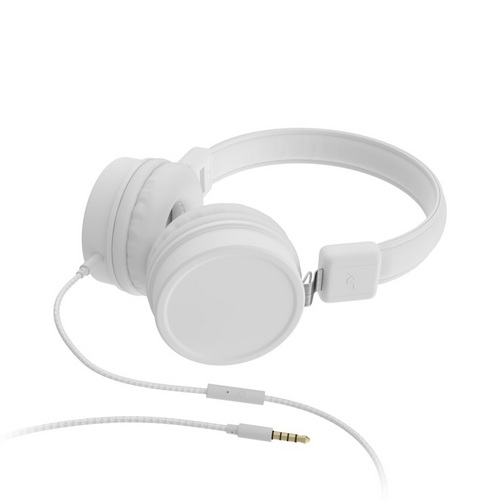 KitSound Brooklyn Wired On Ear Headphones - white