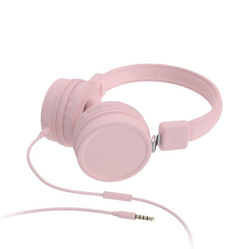 KitSound Brooklyn Wired On Ear Headphones - pink