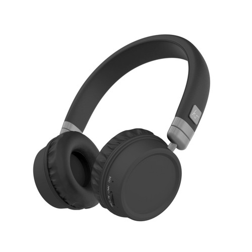 KitSound Harlem Wireless Bluetooth Headphones - black