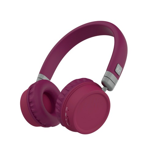 KitSound Harlem Wireless Bluetooth Headphones - purple