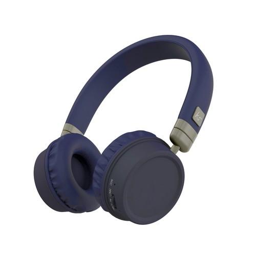 KitSound Harlem Wireless Bluetooth Headphones - blue